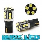 LED Glassockel 100% Canbus T10 W5W W2,1x9,5d 15x 3030 SMD Weiß