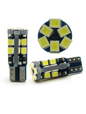 LED Glassockel W5W 15x 3014 SMD Weiß T10 Canbus