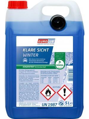 Eurolub Scheibenfrostschutz Klare Sicht Winter Konzentrat -60°C 5l