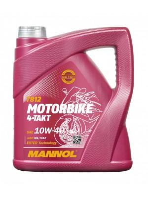 MANNOL 7812 Motorbike 4-Takt synthetisches Ester 10W-40 Motorrad Motoröl 4l