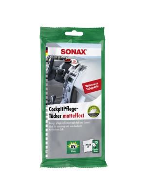 SONAX CockpitPflegeTücher matteffect 10 Stück