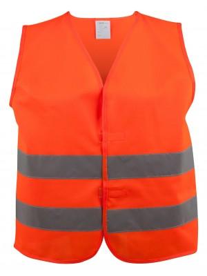 Sicherheitsweste orange Größe S für Kinder 7 - 10 Jahre