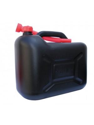 Benzinkanister 20 Liter - UN-geprüft 1000 gramm schwarz/rot mit Ausgießer