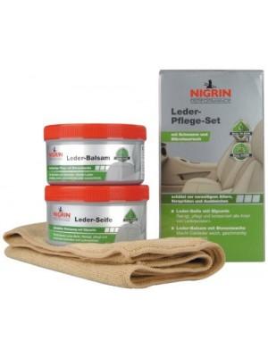 Nigrin Performance Leder-Pflege-Set Seife+Balsam