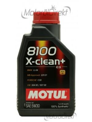 Motul 8100 X-clean + 5W-30 Motoröl 1l