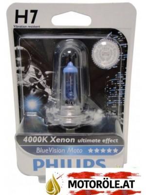 Philips H7 12V 55W PX26d BlueVision Moto 1st. Blister
