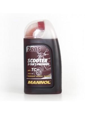 MANNOL 7805 Scooter 2-Takt Premium vollsynthetisches Motorrad Motoröl 1l