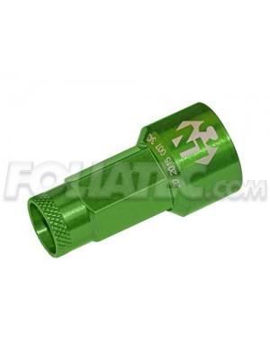 Foliatec LugNuzz Cover Set, grün eloxiert, Schlüsselweite 17 20 Stück