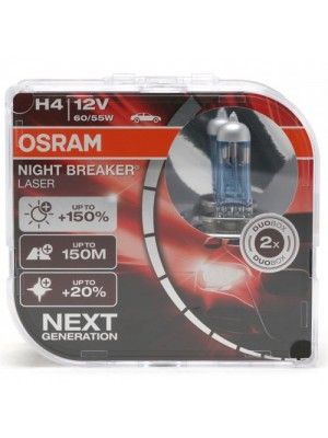 Osram H4 NIGHT BREAKER® LASER Next Generation 12V 60/55W P43t Duobox