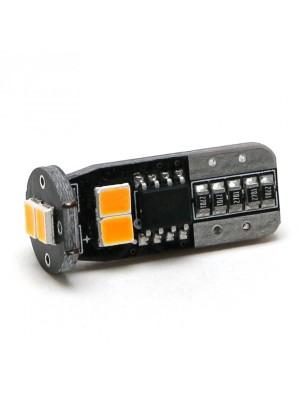 LED Glassockel WY5W T10 6x 2835 SMD Orange
