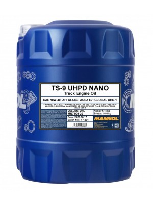 MANNOL TS-9 UHPD Nano 10W-40 Motoröl 20l Kanister