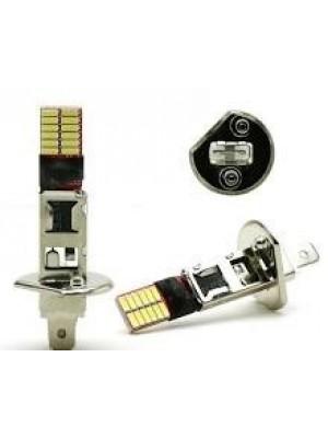 LED Nebelscheinwerfer Birne Lampe H1 24x 4014 SMD Weiß