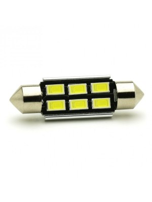 LED Soffitte C5W 39mm 6x 5630 SMD Weiß Canbus