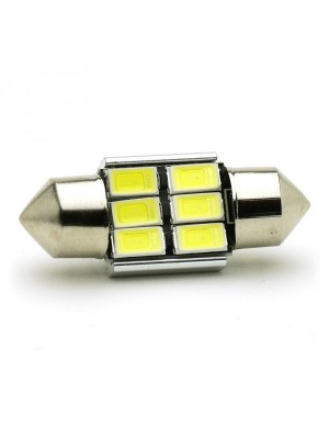 LED Soffitte C5W 31mm 6x 5630 SMD Weiß Canbus