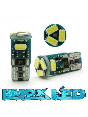 LED Glassockel W5W 5x 5730 SMD Weiß T10 Canbus