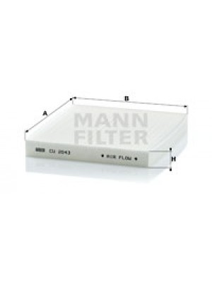 MANN-FILTER CU 2043 - Filter, Innenraumluft