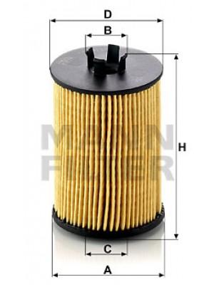 MANN-FILTER HU 612/1 x - Ölfilter