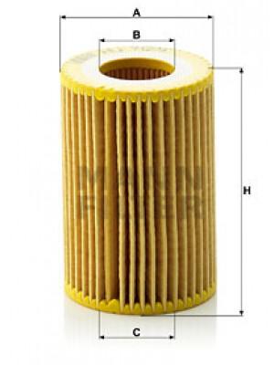 MANN-FILTER HU 712/9 x - Ölfilter