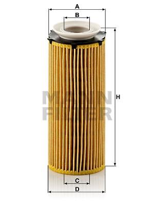 MANN-FILTER HU 720/3 x - Ölfilter
