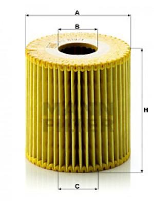 MANN-FILTER HU 819/1 x - Ölfilter