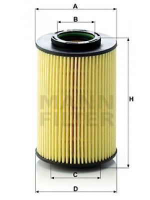MANN-FILTER HU 822/5 x - Ölfilter