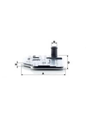 MANN-FILTER H 27 001 - Hydraulikfilter, Automatikgetriebe
