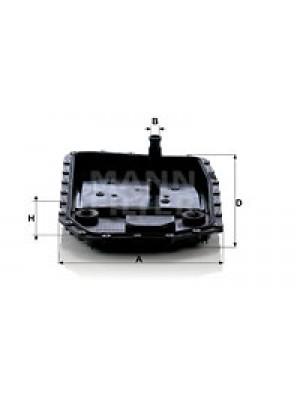 MANN-FILTER H 50 001 - Hydraulikfilter, Automatikgetriebe