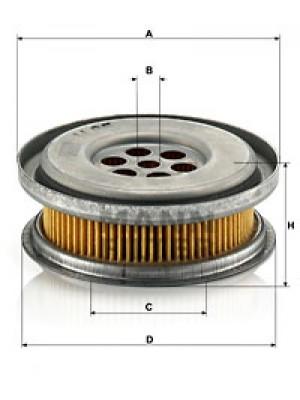 MANN-FILTER H 85 - Hydraulikfilter, Lenkung