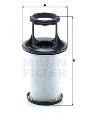 MANN-FILTER LC 5001/1 x - Filter, Kurbelgehäuseentlüftung