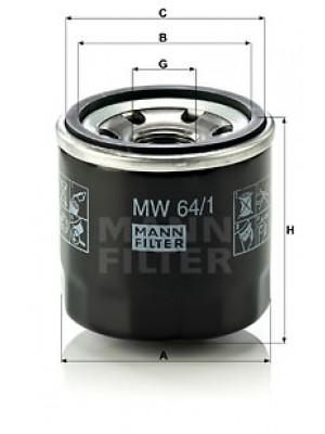 MANN-FILTER MW 64/1 - Ölfilter