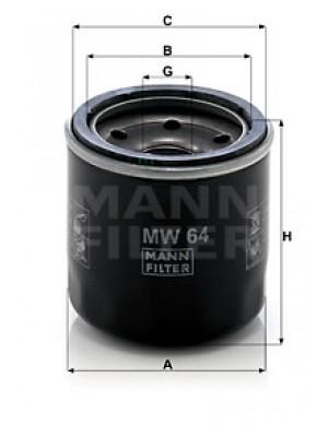 MANN-FILTER MW 64 - Ölfilter