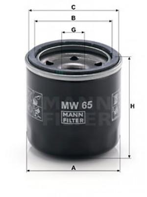 MANN-FILTER MW 65 - Ölfilter