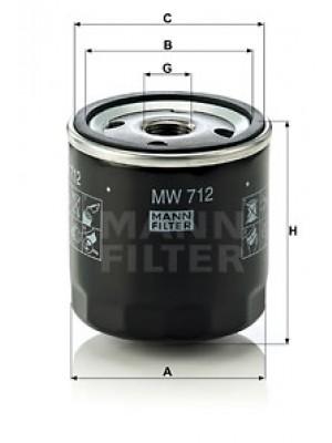 MANN-FILTER MW 712 - Ölfilter