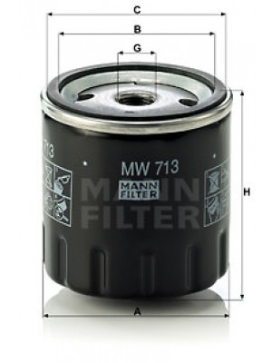MANN-FILTER MW 713 - Ölfilter
