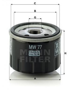 MANN-FILTER MW 77 - Ölfilter