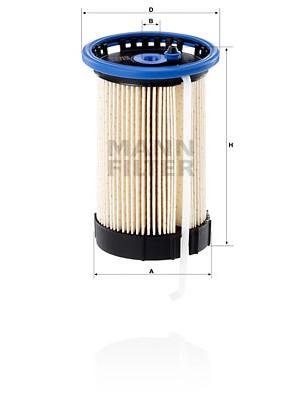 MANN-FILTER PU 8014 - Kraftstofffilter
