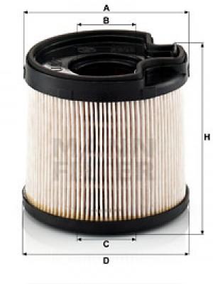 MANN-FILTER PU 922 x - Kraftstofffilter - evotop