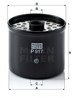 MANN-FILTER P 917 x - Kraftstofffilter