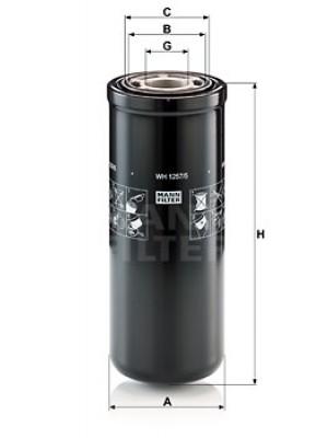 MANN-FILTER WH 1257/5 - Hydraulikfilter, Automatikgetriebe