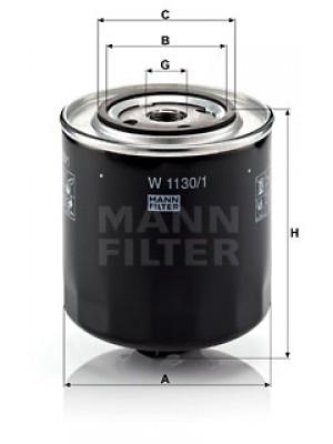 MANN-FILTER W 1130/1 - Ölfilter