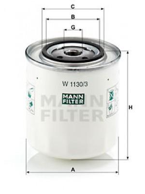 MANN-FILTER W 1130/3 - Ölfilter