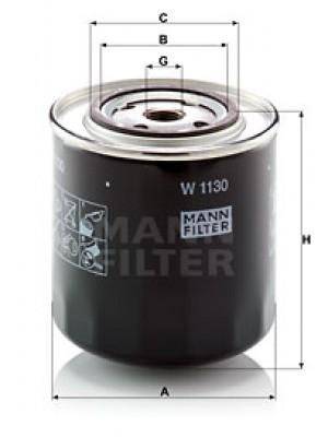MANN-FILTER W 1130 - Ölfilter