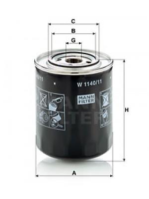 MANN-FILTER W 1140/11 - Ölfilter
