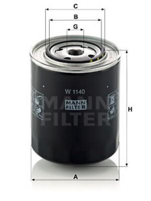 MANN-FILTER W 1140 - Ölfilter