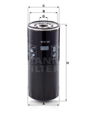 MANN-FILTER W 11 102 - Ölfilter