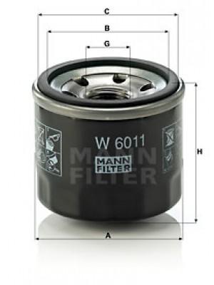 MANN-FILTER W 6011 - Ölfilter
