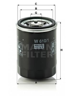 MANN-FILTER W 610/1 - Ölfilter