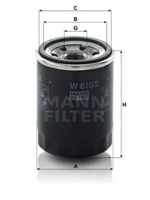 MANN-FILTER W 610/2 - Ölfilter