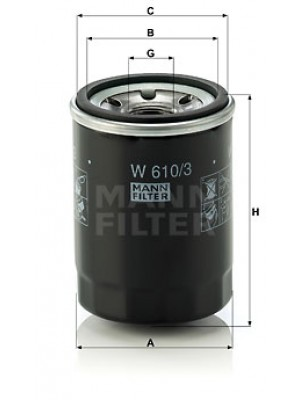MANN-FILTER W 610/3 - Ölfilter