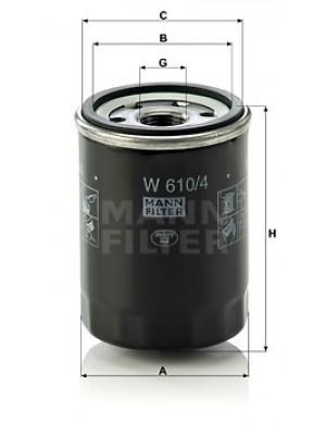 MANN-FILTER W 610/4 - Ölfilter